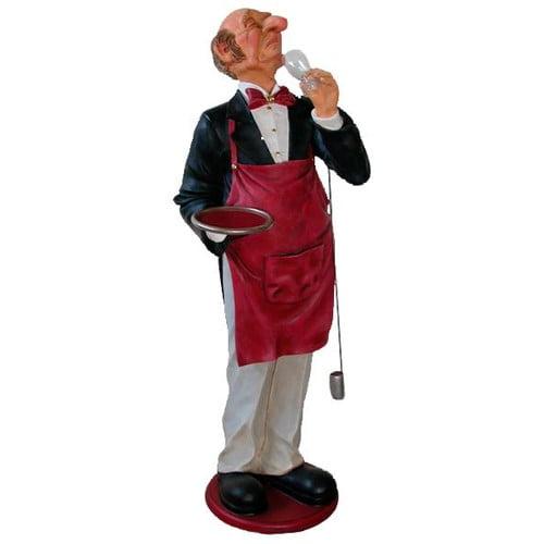Design Toscano Grand Sir Sommelier - Scale Wine Connoisseur Statue