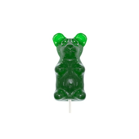 Giant Gummy Bear on a Stick - Sour Green Apple: 1 Count - Giant Apple