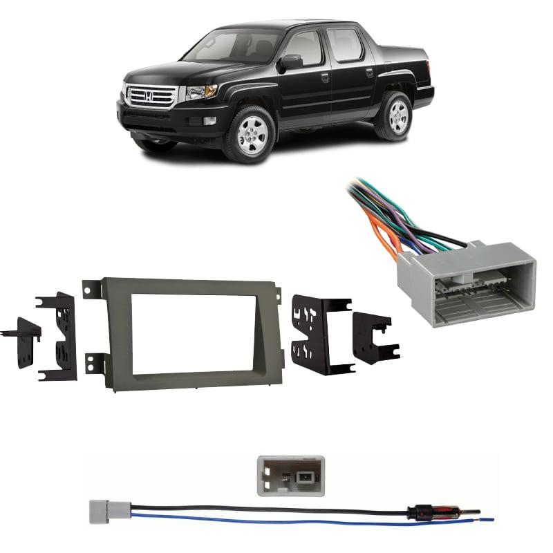 Fits Honda Ridgeline 2009-2014 Double DIN Harness Radio Dash Kit - Taupe