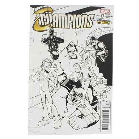 Marvel Comics Champions #1 (Comic Con Box B&W Cover)](Comic Con Outfit)