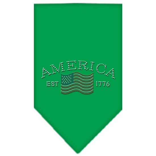 Mirage 67-21 LGEG Classic American Rhinestone Pet Bandana Emerald Green Large