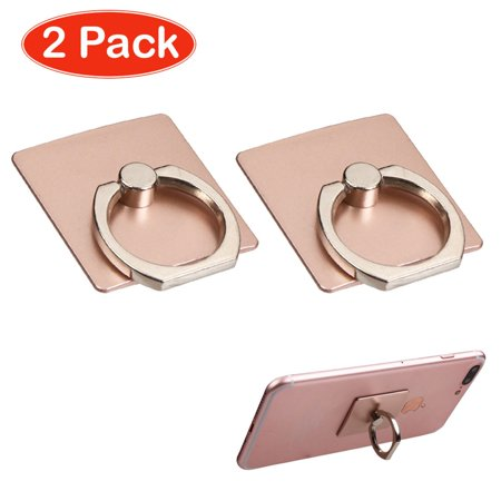 Xs Grip - MyBat 2-Pack Rose Gold 360 Finger Metal Grip Adhesive Ring Stand for Cell Phone iPhone XS XR X  8plus 7 6s Samsung Galaxy S9 S9+ S8 S8+ J7 J3 Note 9 ZTE Zmax Pro Majesty Max XL Huawei Ascend XT2 XT