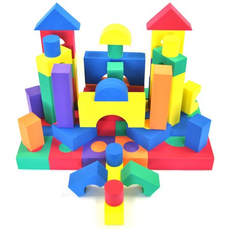 eWonderWorld Nontoxic 70-Piece Non-Recycled Quality Foam Wonder Blocks for - Foam Blocks For Kids
