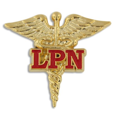 Licensed Practical Nurse Red LPN Caduceus Lapel - Pin Up Nurses