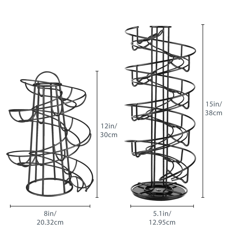 2 NON STICK EGGS RINGS NEW CHROME SPIRAL 12 EGG HOLDER STAND STORAGE RACK