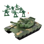 Army Vehicle Inertial Forward Tank Model Toy with 360 Degree Rotating Fort Toys