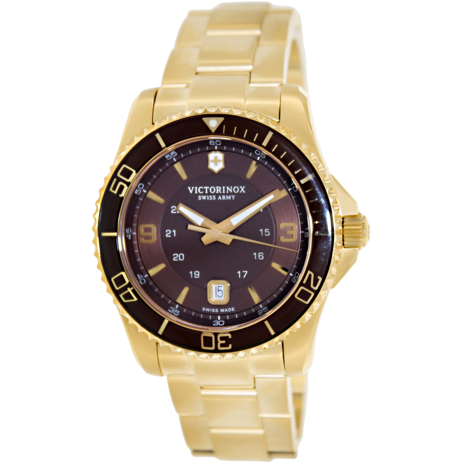 Victorinox Swiss Army Men's Maverick 241607 Gold Stainless-Steel Swiss Quartz Dress Watch