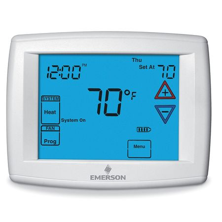 EMERSON Low V T-Stat,Stages Heat 4,Stages Cool 2 1F95-1280