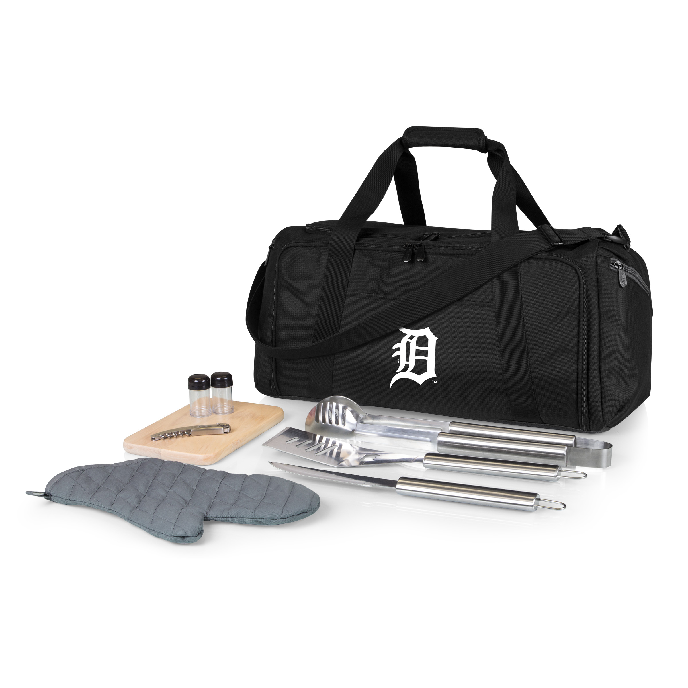 Detroit Tigers BBQ Kit Cooler - Black - No Size