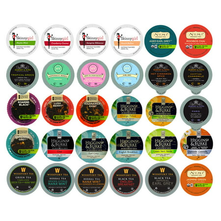 Tea Single Serve Cups for Keurig K Cup Brewer Variety Pack Sampler, 30 Ct