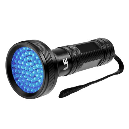Lighting EVER 68 LEDs UV Flashlight, 4W UV Black Light With 600mAh Battery Operated ( Not Included ), Pet UV Urine & Stain Detector, Find Stains on (Best Blacklight For Urine Detection)