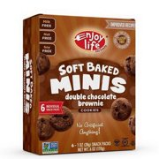 Enjoy Life Double Chocolate Brownie Soft Baked Minis Cookies, 6 Ounce -- 6 per case