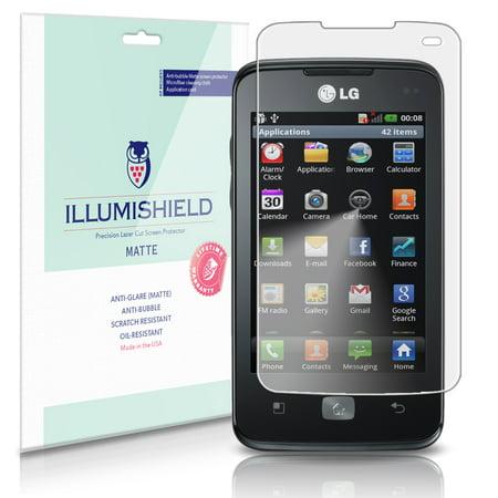 iLLumiShield Anti-Glare Matte Screen Protector 3x for LG Optimus HUB (E510)