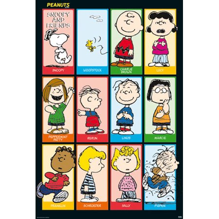 Peanuts - TV Show Poster / Print (All Characters / Grid) (Snoopy, Charlie Brown, Linus, Lucy, Peppermint Patty, Woodstock…)](All Peanuts Characters)