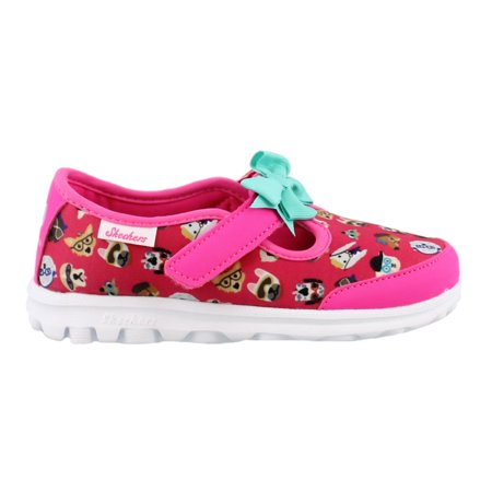 bc02cb43d96 Skechers - Girl's Skechers, Go Walk Bow Wow Slip on Shoes - Walmart.com