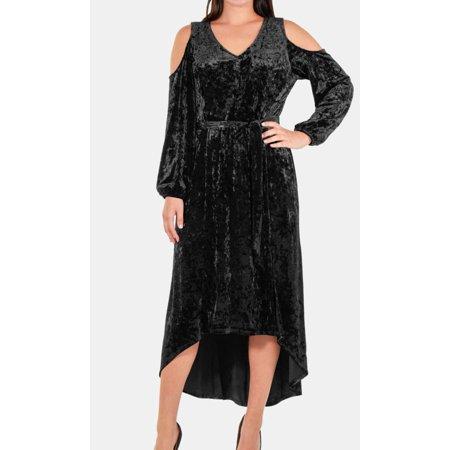Womens Large Petite Velvet Sheath Dress PL