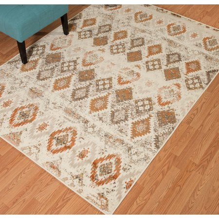 United Weavers Amarna San Paula Distressed Linen Woven Olefin Area Rug or Runner