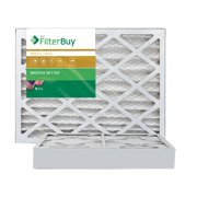 FilterBuy 16x25x4 MERV 11 Pleated AC Furnace Air Filter, (Pack of 2 Filters), 16x25x4  Gold