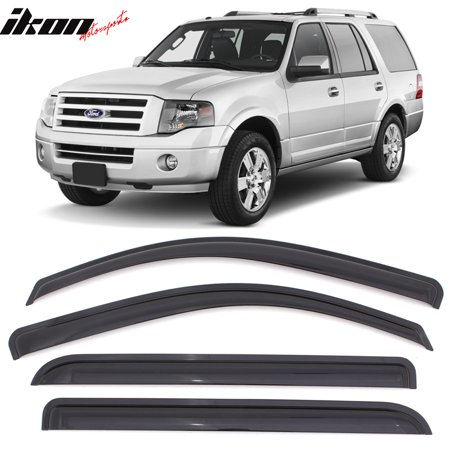Fits 97-17 Ford Expedition 98-17 Lincoln Navigator Acrylic Window Visors 4Pc Set