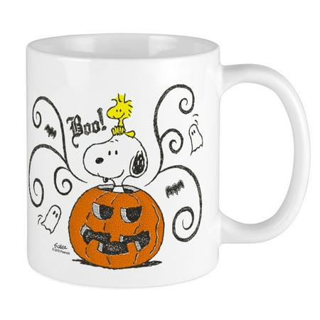 Snoopy Great Pumpkin (CafePress - Peanuts Snoopy Sketch Pumpkin Mug - Unique Coffee Mug, Coffee Cup)