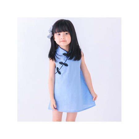 d0f16194093 weefy - Baby Kids Girls Chinese Floral Cheongsam Princess Costume Sleeveless  Dress - Walmart.com