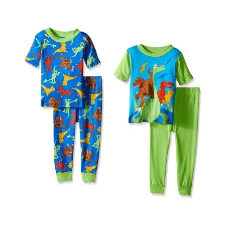 Disney Boys Prehistoric Pals 4-Piece Pajama Set (Mens Disney Pajamas)