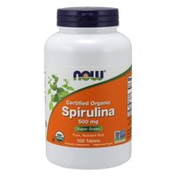 NOW Supplements, Organic Spirulina 500 mg with Vitamins, Minerals and GLA (Gamma-Linolenic Acid), 500 Tablets