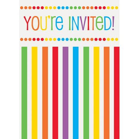 Rainbow Birthday Invitations, 8pk](50th Birthday Invitations For Her)