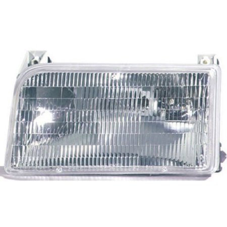 Go-Parts » 1992 - 1997 Ford F-150 Front Headlight Headlamp Assembly Front Housing / Lens / Cover - Left (Driver) Side F2TZ 13008 B FO2502118 Replacement For Ford