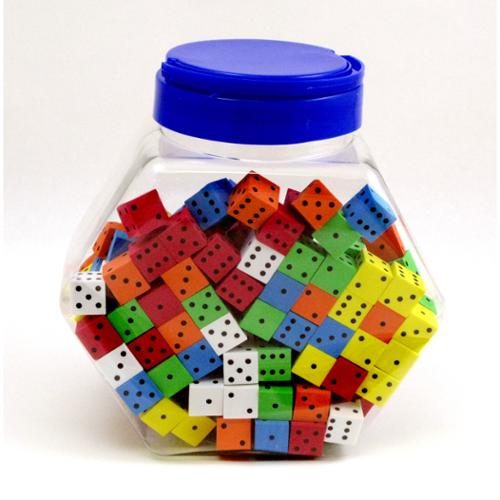 KOPLOW GAMES INC. Koplow Games Assorted Color Spot Foam Dice (200 pieces)