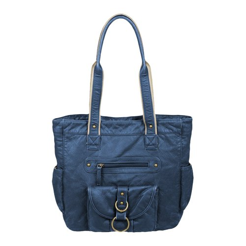 Faded Glory Washed Shoulder Tote