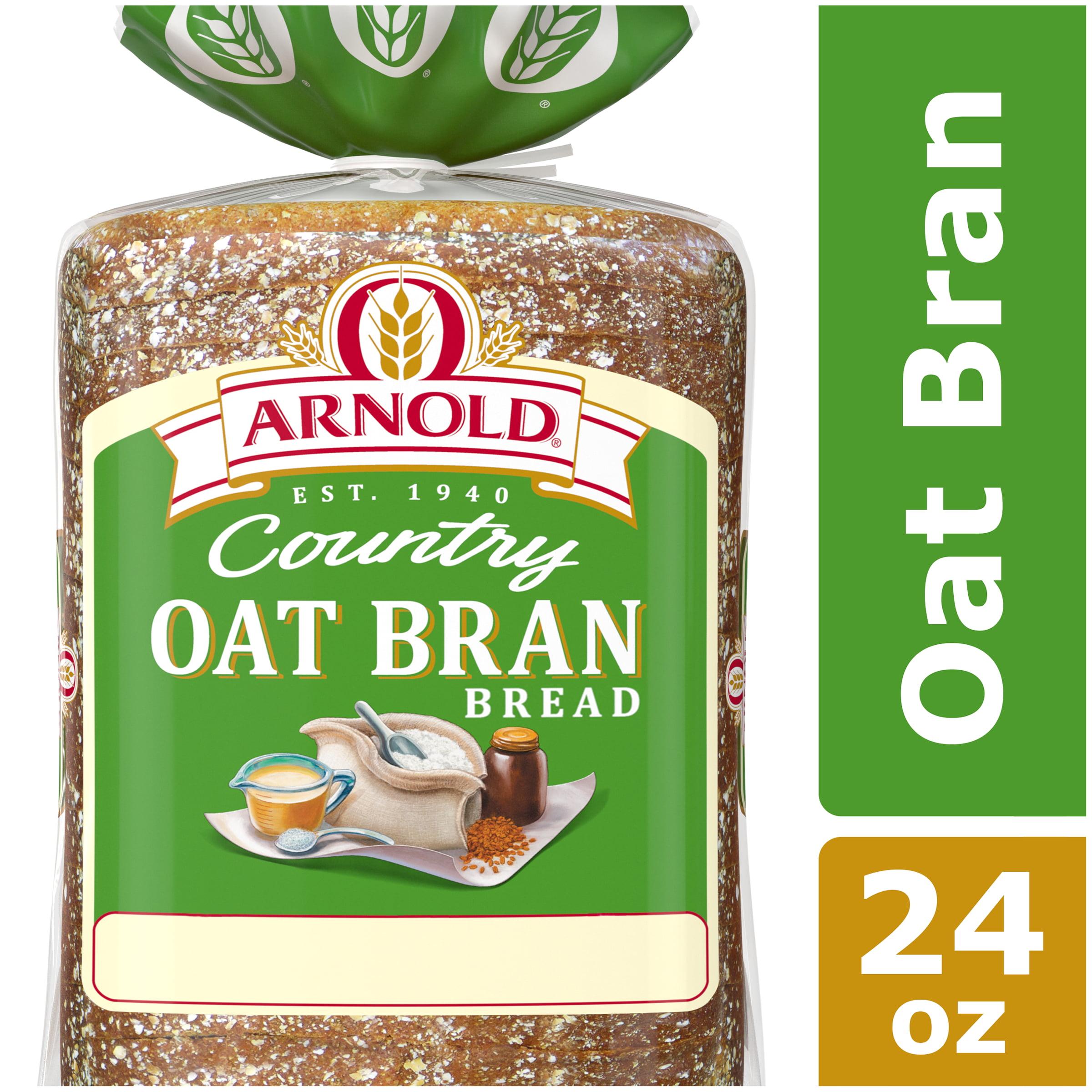 Arnold Country Oat Bran Bread, Hearty Flavor, 24 oz