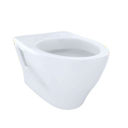 TOTO® Aquia® Wall-Hung Elongated Toilet Bowl with Skirted Design and CeFiONtect™, Cotton White - CT418FG#01