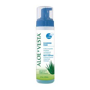 ConvaTec Aloe Vesta Cleansing Foam,  No-Rinse 8 oz Bottle, Pack of (Best Cleansing Oil For Sensitive Skin)
