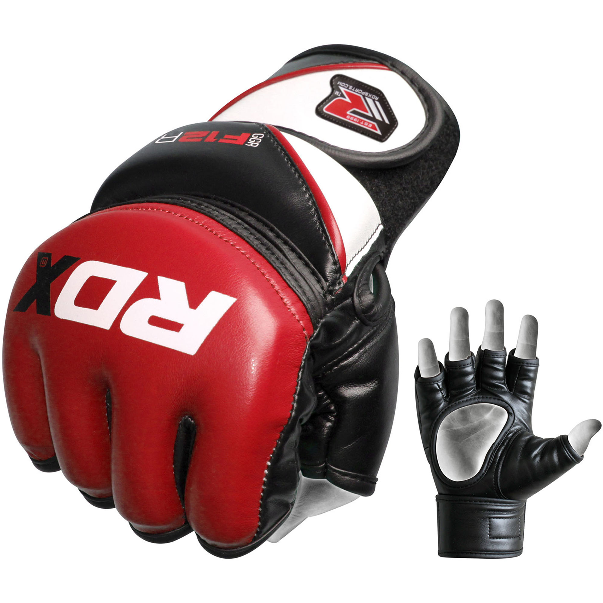 RDX Martial Arts Gloves MMA Grappling Sparring UFC Training Cage Fighting Combat Maya Hide Leather Punching Bag Mitts by De Caprio