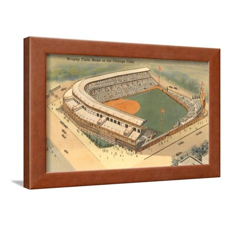 Wrigley Field, Chicago, Illinois Framed Print Wall Art Wrigley Field Framed Pictures