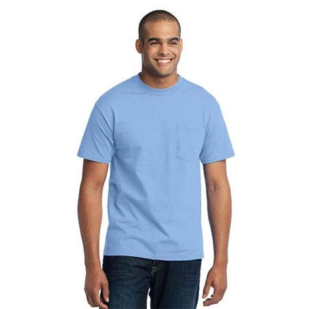 Port & Company® Tall Core Blend Pocket Tee. Pc55pt Light Blue Xlt - image 1 of 1