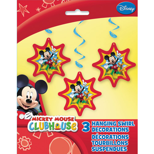 "36"" Hanging Mickey Mouse Clubhouse Decorations, 3ct"