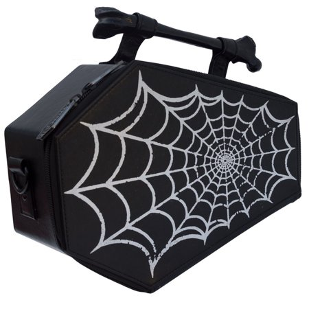 Spiderweb Coffin Purse Spider Web Casket Theme Handbag Kreepsville (Halloween Purses)