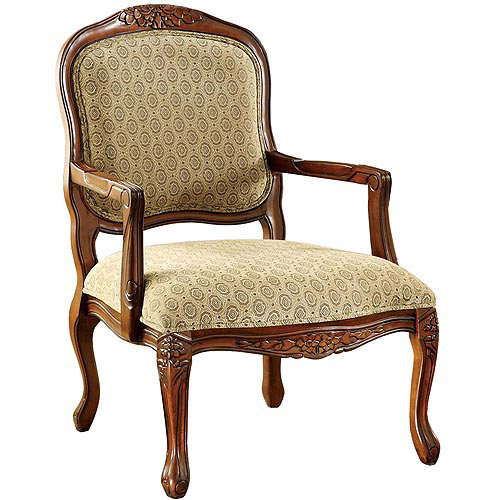 Venetian Worldwide Quintus Carved Wood Accent Chair