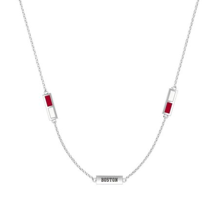 Boston University Pendant Necklace In Sterling Silver Design by BIXLER