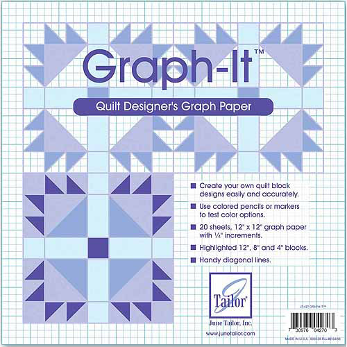 "June Tailor Graph-It Graph Paper, 20pk, 12"" x 12"""