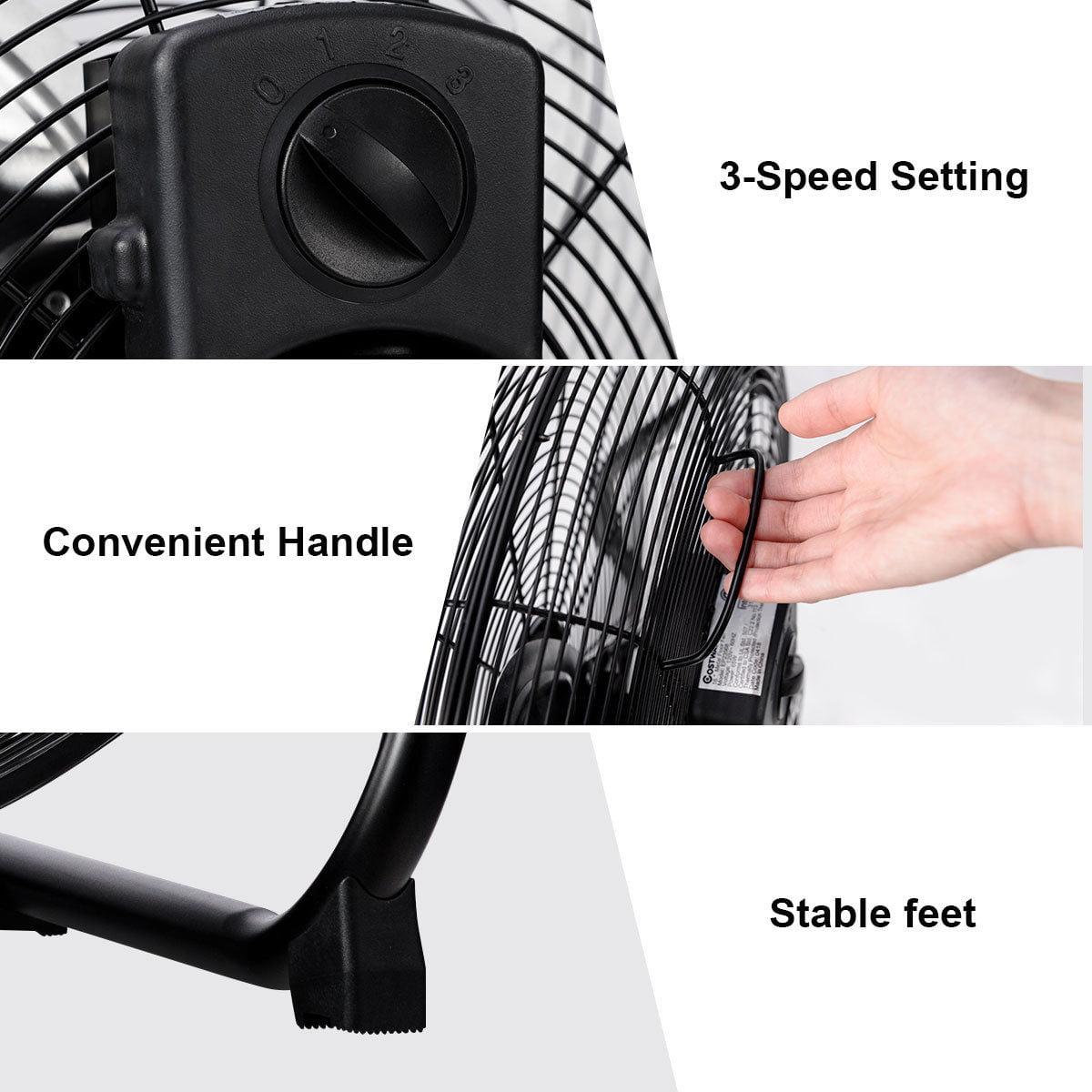 16'' High Velocity Fan Commercial Industrial Grade 3-Speed Floor Fan - image 2 of 10