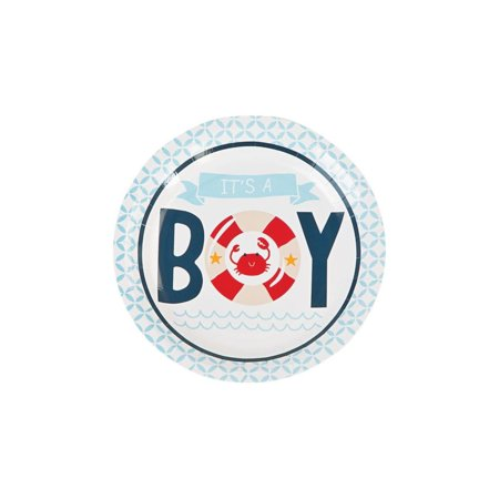 Nautical Baby Shower Paper Dessert Plates](Easy Baby Shower Desserts)