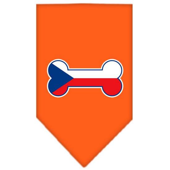 Bone Flag Czech Republic  Screen Print Bandana Orange Small