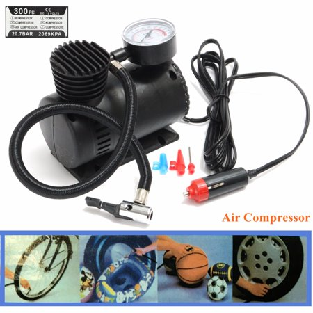 300 PSI DC 12V Portable Mini Air Compressor Pump Auto Car Electric Tire Inflator For (Best Portable Car Tire Pump)