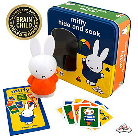 Miffy - Hide and Seek Game - Includes Hint Cards and Doll with - Glas Hide Board