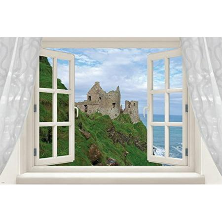 Window Into Ireland Classic Scenic Poster Castle Lush Coastline 24X36 (Scenic Posters)