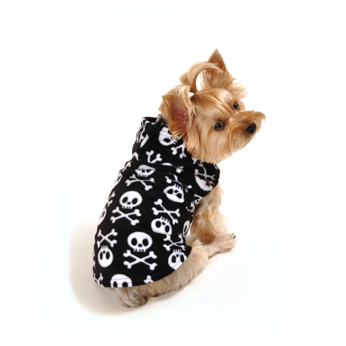 SimplyDog Pirate Skull Fleece, Multiple Sizes Available