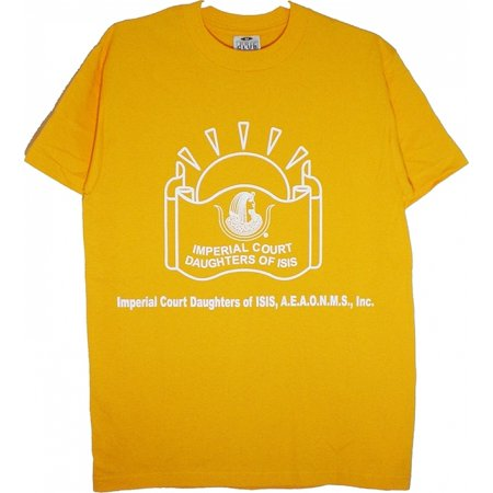 Daughters of Isis Symbol Imperial Court Ladies T-Shirt [Gold - XL]